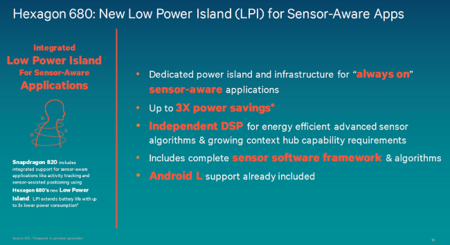 Snapdragon 820 Dsp Hexagon 680 Low Power Island Apps