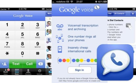 Google Voice para iPhone ya disponible en la App Store