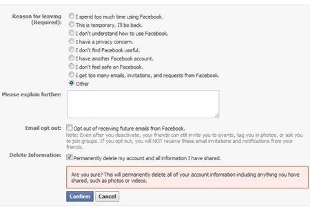 Eliminar mi cuenta definitivamente: una nueva opción que Facebook podría lanzar en breve
