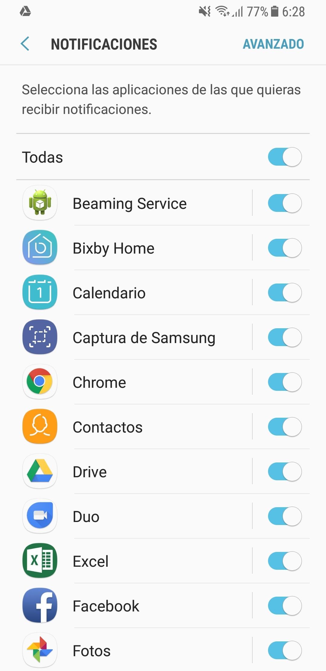 Galaxy A8 interfaz