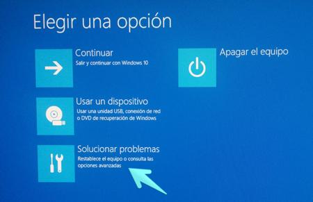 elige una opcion modo seguro windows 10