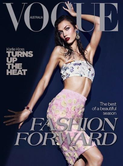 Karlie Kloss es pura sensualidad en el nuevo número de Vogue Australia