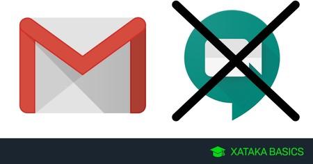 Cómo desactivar Google Meet en Gmail