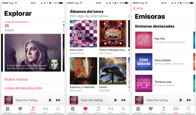 Apple Music Rediseno