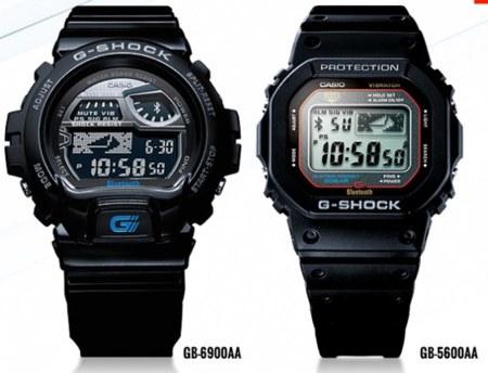 Relojes de la serie G-Shock de casio compatibles con iPhone