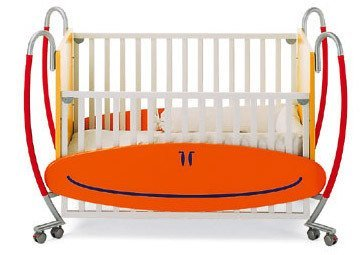 Cuna de diseño que se hace cama