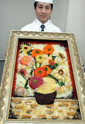 Arte con sushi