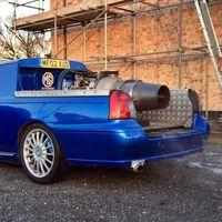 ¡Demencial! Alguien ha pagado 8.000 euros por este MG ZT pick-up equipado con una turbina Rolls-Royce