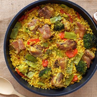 Arroz con costillejas y verduras de Murcia, la receta de mi madre de un plato típico huertano