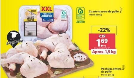 Organizaciones de ganaderos denuncian a Lidl y Family Cash por ofertar el pollo a menos de 2 euros el kilo