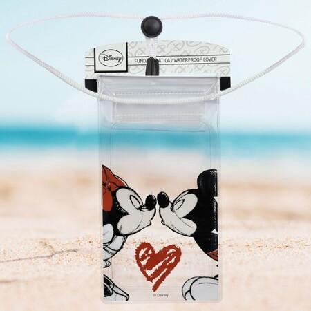 Funda Acuatica Disney Oficial Mickey Y Minnie Beso 2