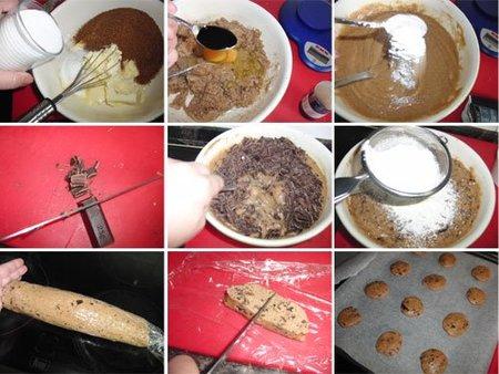 Preparacón de las Chocolate Chip Cookie Dough