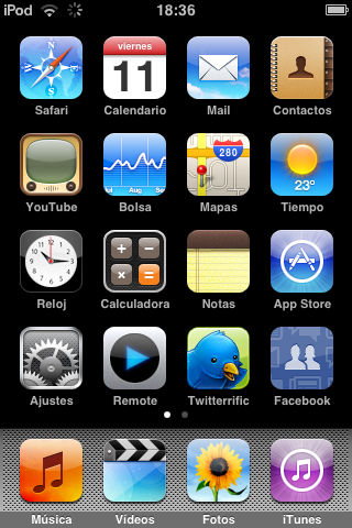 Firmware 2.0 para iPod Touch analizado
