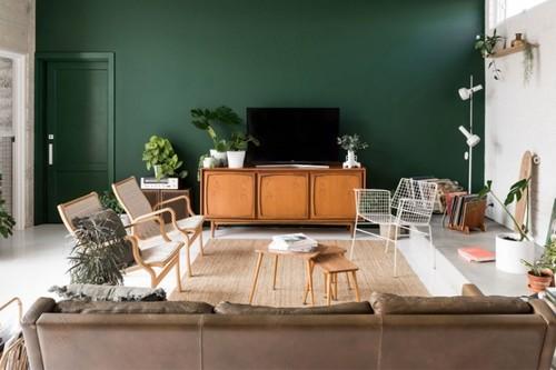 En la próxima temporada paredes oscuras y si son verdes mejor: fuerte identidad para hogares sorprendentes