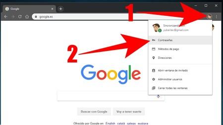 Contrasenas Google