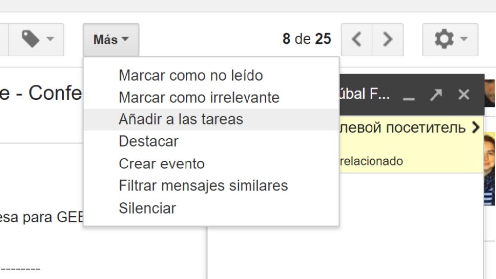 Tareas Gmail