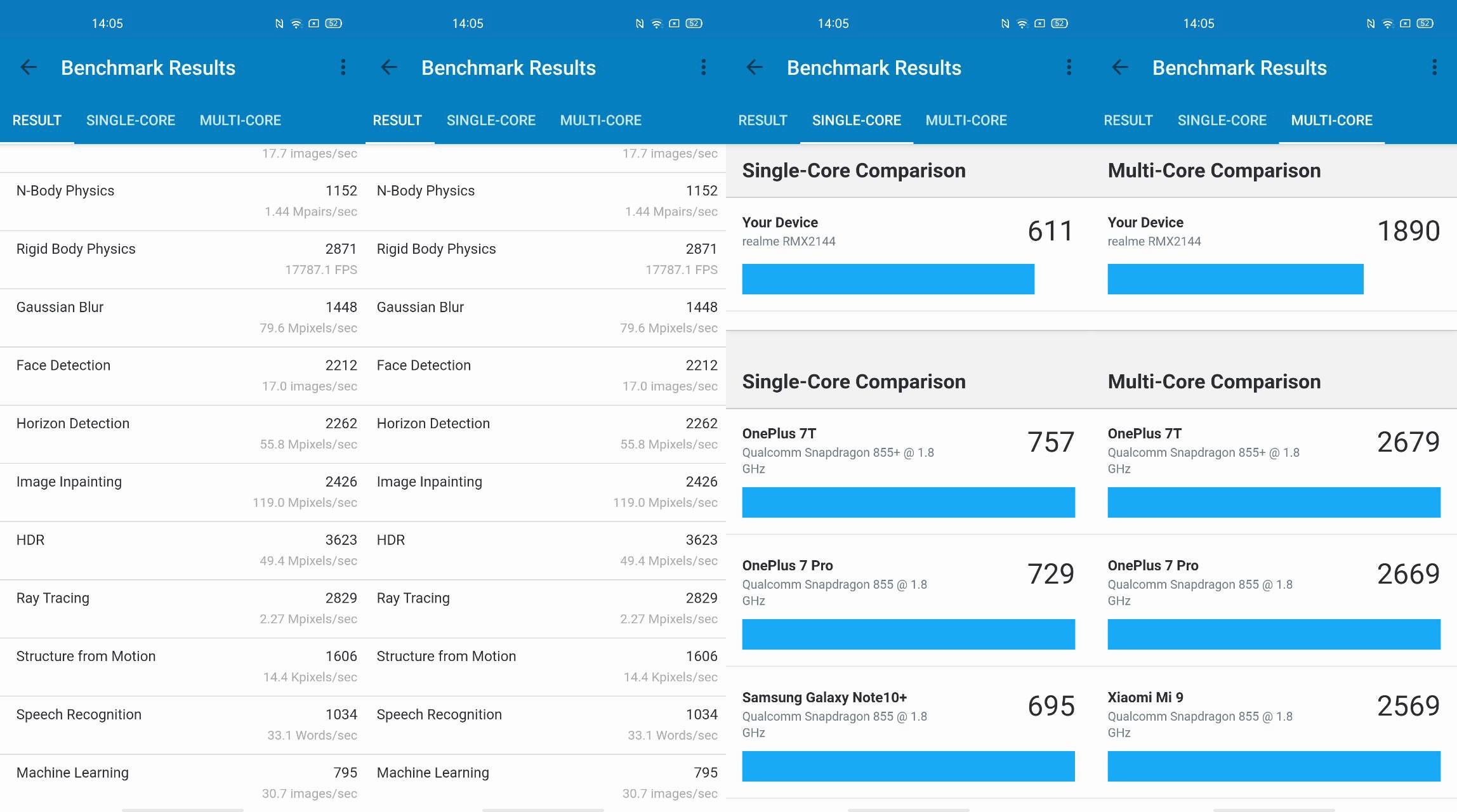 Foto de Realme X50 5G, benchmarks (3/4)