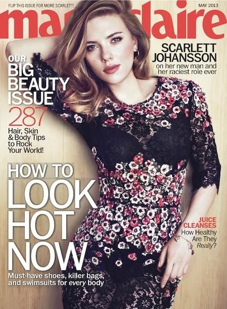 Scarlett Johansson, más floral imposible para la revista Marie Claire