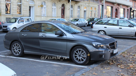 Mercedes Clase CLA, cazado en Budapest