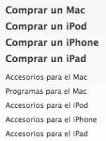 apple store web tienda online menu