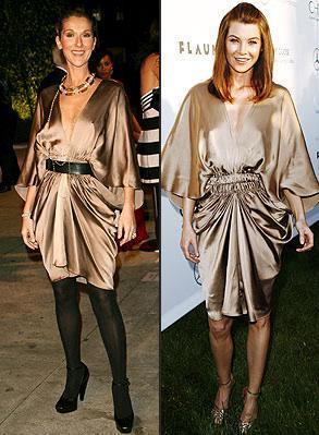 Vestido de Lanvin: ¿Ellen Pompeo o Celine Dion?