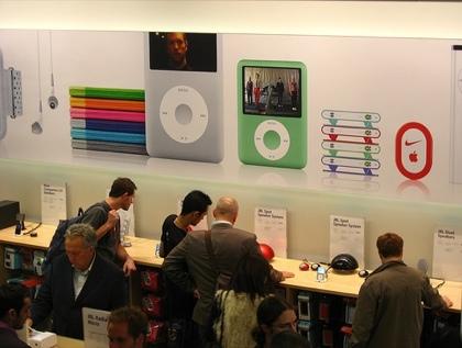 Imagen de la semana: Los nuevos iPod en la Apple Store de Londres