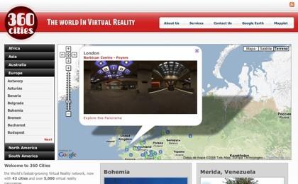 360 Cities, viaja virtualmente por los mejores lugares del mundo mediante panorámicas