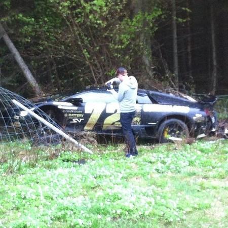 Lamborghini Murciélago Gumball Accidente