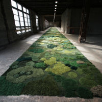 Frondosos jardines para interior creados con... ¿lana?