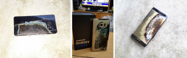 Samsung Galaxy Note 7 problemas baterías