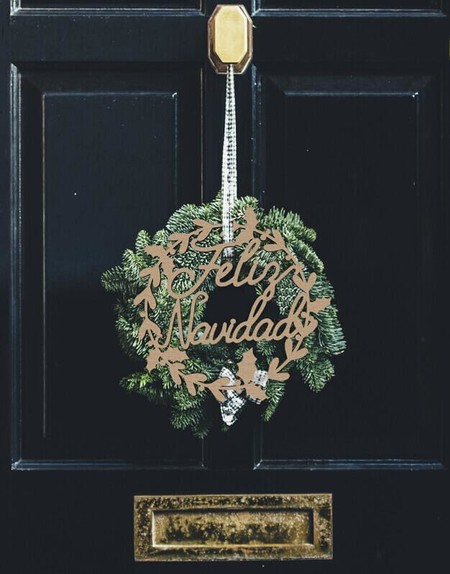 Corona de Navidad en madera natural