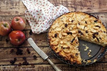 Tarta cremosa de manzana y queso. Receta