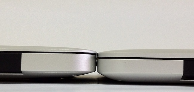 MacBook Pro Retina vs MacBook Air trasera
