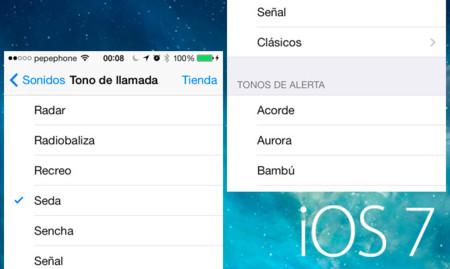 Los nuevos tonos de llamada y alerta de iOS 7