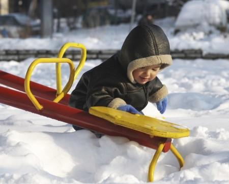 Bebe Nieve Parque