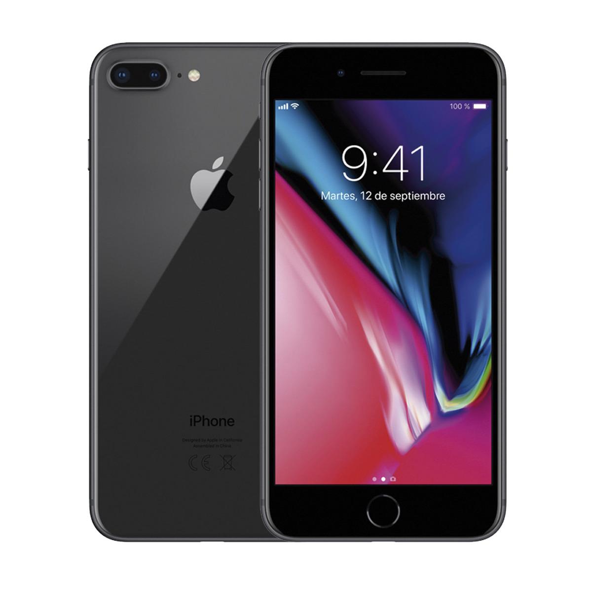 APPLE IPHONE 8 PLUS 64GB TELEFONO MOVIL LIBRE SMARTPHONE COLOR NEGRO BLACK 4G