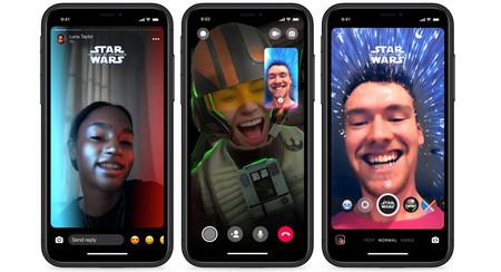 Facebook Messenger se viste de Star Wars: así puedes usar el nuevo tema, stickers y filtros de realidad aumentada