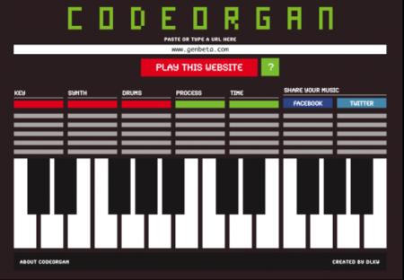 Codeorgan, convierte la web en música