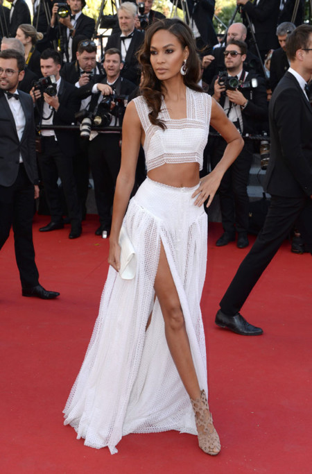 Joan Smalls Crop Top Look