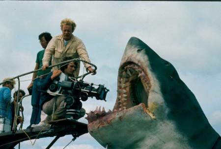 Spielberg rodando Tiburón