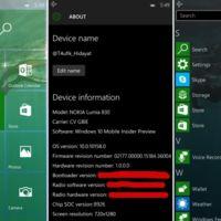 Se filtran aun más datos y capturas de la Windows 10 Mobile build 10158