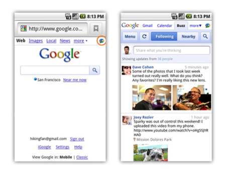 Google Buzz para móviles, aprovechando al máximo las posibilidades de localización