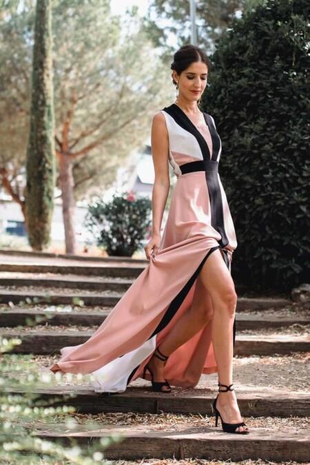 Vestido Tricolor Rosa Invitada Perfecta Vestidos Largos Fiestas Eventos Apparentia7297