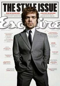 El actor Peter Dinklage, portada del número especial de estilo de 'Esquire'