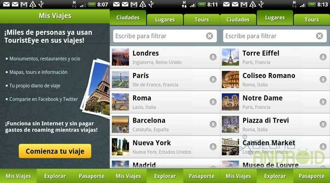 Tourist Eye para Android