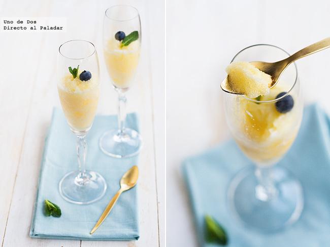 Sorbete de cava naranja y lim n receta de navidad - Sorbete limon al cava ...