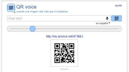 QR voice: introduce una conversión de texto a audio en un código QR