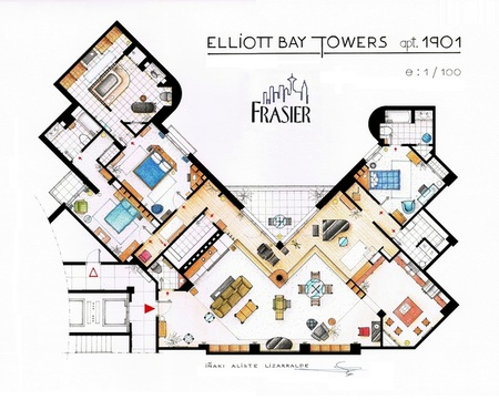 planos de series - Frasier