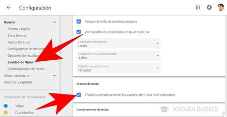 Eventos Gmail
