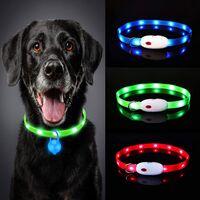 Este es uno de los collares para perros más vendido de Amazon: tiene luces LED, utiliza USB para cargar y cuesta menos de 10 euros